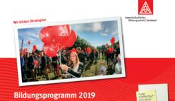 Bildungsprogramm des IG Metall-Bezirks Mitte 2019 im Download-Bereich